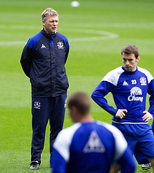 LIVERPOOL, ENGLAND - Tuesday April 3, 2012: Everton's manager David Moyes during a training session at Goodison Park ahead of the FA Cup Semi-Final Merseyside Derby match with city rivals Liverpool at Wembley. (Pic by Vegard Grott/Propaganda)