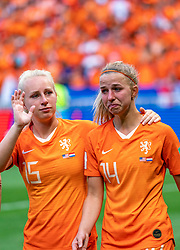 07-07-2019 FRA: Final USA - Netherlands, Lyon<br /> FIFA Women's World Cup France final match between United States of America and Netherlands at Parc Olympique Lyonnais. USA won 2-0 / Inessa Kaagman #15 of the Netherlands, Jackie Groenen #14 of the Netherlands