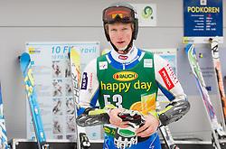 Forerunner Klemen Kosi of Slovenia during the 2nd Run of 7th Men's Giant Slalom - Pokal Vitranc 2013 of FIS Alpine Ski World Cup 2012/2013, on March 9, 2013 in Vitranc, Kranjska Gora, Slovenia. (Photo By Vid Ponikvar / Sportida.com)