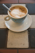 still life of a cup of coffee cappuccino