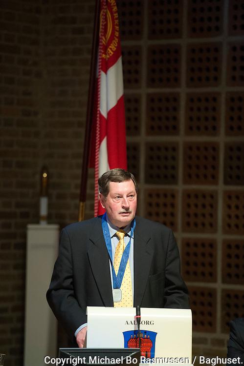 Svend Aage Suhr. Aalborg Haandværkerforening, Laug, Aalborg Kommune m.m. uddeler legater i Byrådssalen.Foto: © Michael Bo Rasmussen / Baghuset. Dato: 15.05.12
