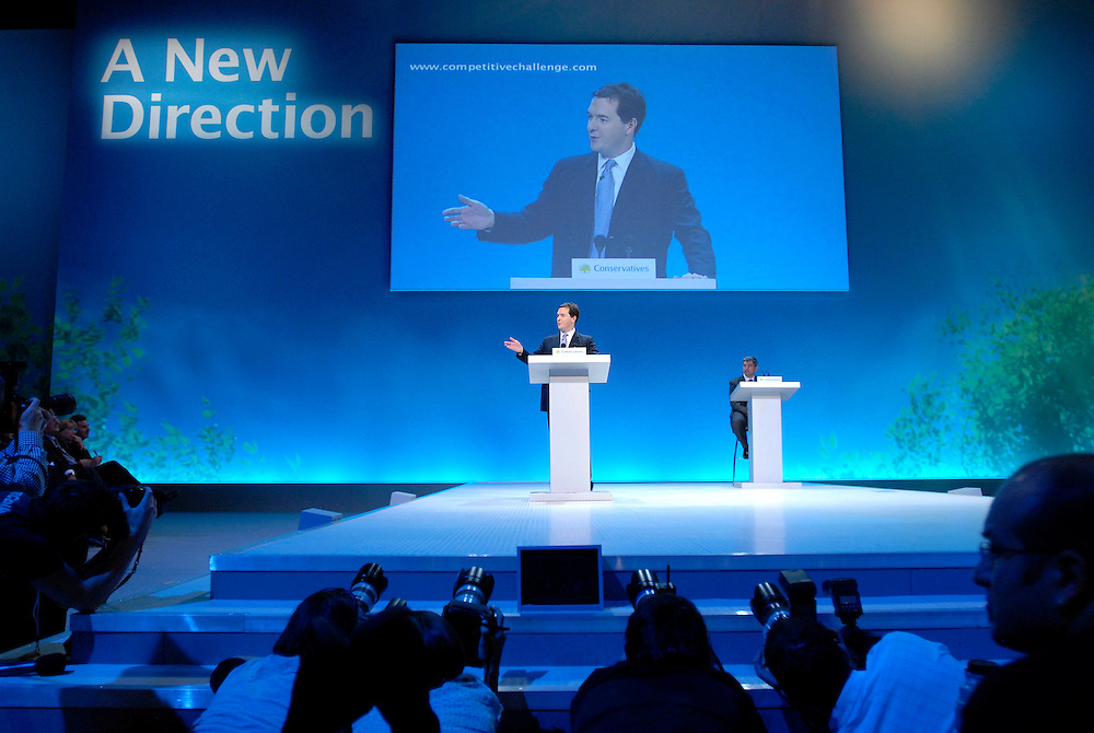 UK, Bournemouth. Tory party Conference. George Osborne, Shadow Chancellor of The Exchequer at the Conservative party Conference..
