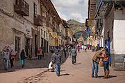 Calle Marquez, near Plaza de Armas, Cusco, Peru.
