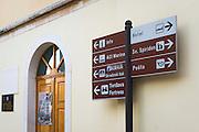Street sign, Skradin, Dalmatia, Croatia
