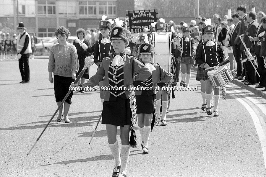 Jazz Band, Yorkshire Miners Gala. 1986 Doncaster.