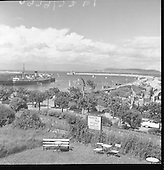 1959 Views of Dun Laoghaire Harbour and Mail Boat.