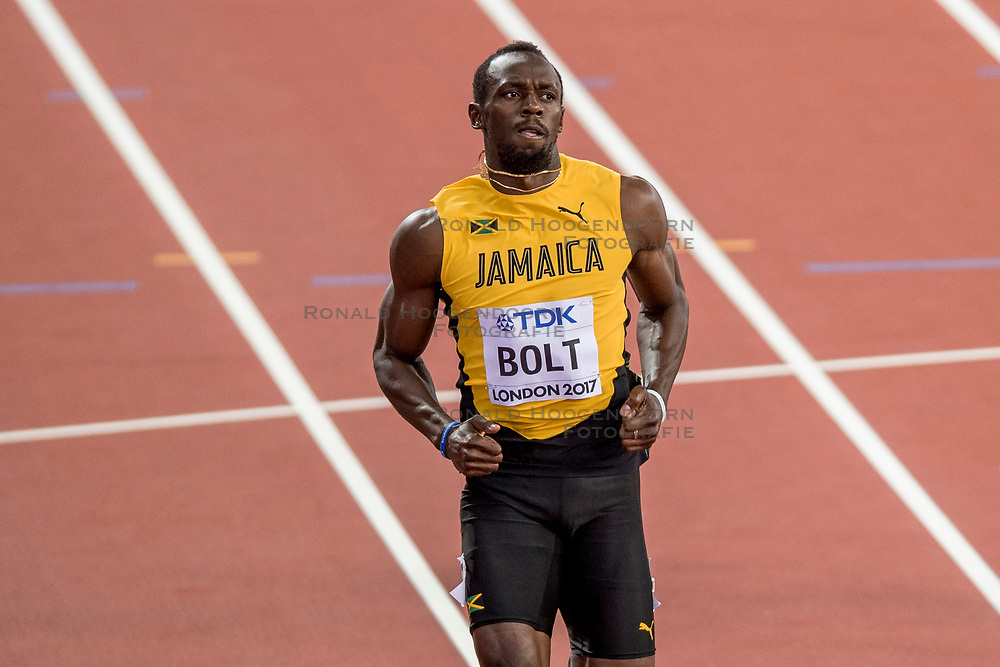 04-08-2017 IAAF World Championships Athletics day 1, London<br /> Usain Bolt JAIM100 m