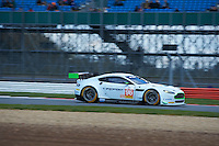 Roald Goethe (DUE) / Stuart Hall (GBR) / Richie Stanaway (NZL)  #96 Aston Martin Racing, Aston Martin Vantage GTE, Aston Martin 4.5 L V8, during the Race  as part of the ELMS 4 Hours of Silverstone 2016 at Silverstone, Towcester, Northamptonshire, United Kingdom. April 16 2016. World Copyright Peter Taylor. Copy of publication required for printed pictures.
