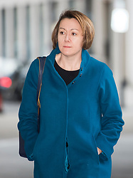 © Licensed to London News Pictures. 04/02/2018. London, UK. CLAIRE KOBER leader of the London Borough of Haringey,  arrives at BBC Broadcasting House in London ahead of an appearance on The Andrew Marr Show on BBC One. Photo credit: Ben Cawthra/LNP