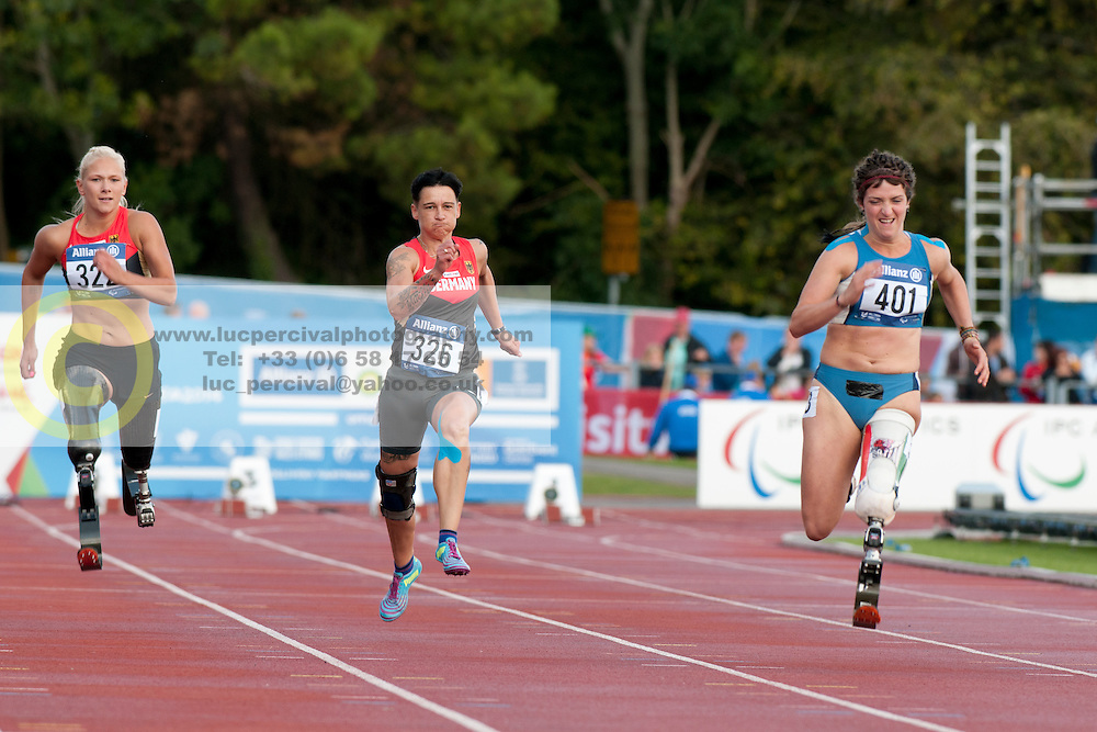 LOW Vanessa, SCHMIDT Jana, CAIRONI Martina, 2014 IPC European Athletics Championships, Swansea, Wales, United Kingdom