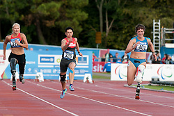 LOW Vanessa, SCHMIDT Jana, CAIRONI Martina, 2014 IPC European Athletics Championships, Swansea, Wales, United Kingdom