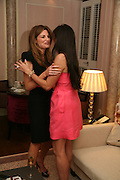 JEMIMA KHAN AND ELIZABETH SALTZMAN, Dinner hosted by Elizabeth Saltzman for Donatella Versace. Claridge's Hotel, Brook Street, Mayfair, London. 11 March 2008.  *** Local Caption *** -DO NOT ARCHIVE-© Copyright Photograph by Dafydd Jones. 248 Clapham Rd. London SW9 0PZ. Tel 0207 820 0771. www.dafjones.com.