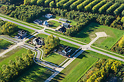 Nederland, Flevoland, Gemeente Almere, 24-10-2013; zelfbouw kavels in Almere-Pampus, deels onbebouwd ivm de crisis in de woningmarkt.<br /> DIY lots in Almere Pampus, partly undeveloped because of the crisis in the housing market.<br /> luchtfoto (toeslag op standaard tarieven);<br /> aerial photo (additional fee required);<br /> copyright foto/photo Siebe Swart.
