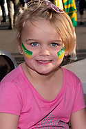 NEWCASTLE, NSW - NOVEMBER 13: Young Australian fan at the international women's soccer match between Australia and Chile at McDonald Jones Stadium in NSW, Australia. (Photo by Speed Media/Icon Sportswire)