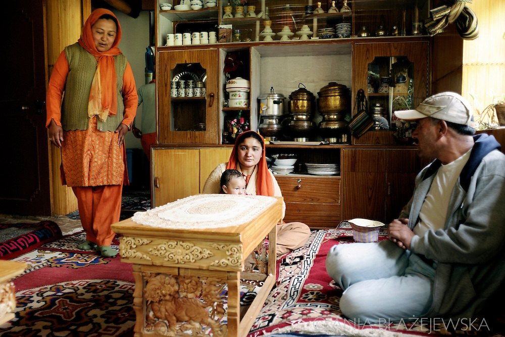India, Ladakh. Inside a house of a muslim family from Thiksey.