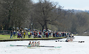 Henley, GREAT BRITAIN,  [Dark Blue] Oxford  and Cambridge Blue Boats head back to the Boathouse after Oxford won the  annual Women's boat Race. 2010 Henley Boat Races, Henley Reach, Henley on Thames, England  Sunday  28/03/2010  28.03.2010. [Mandatory Credit, Peter Spurrier/Intersport-images
