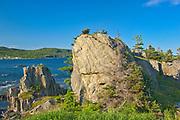 Rocky shoreline along the Atlantic Ocean. Baie Verte Peninsula.<br />Coachman's Cove<br />Newfoundland & Labrador<br />Canada