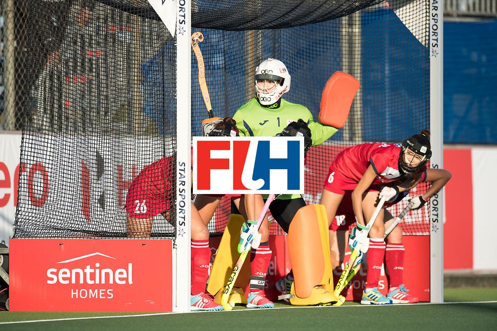 AUCKLAND - Sentinel Hockey World League final women<br /> Match id: 10303<br /> 13 GER v KOR (QF) 3-3<br /> Korea in to semi after shoot out.<br /> Foto:  Penalty corner defense Korea<br /> WORLDSPORTPICS COPYRIGHT FRANK UIJLENBROEK