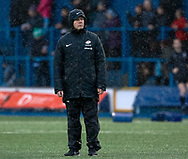 Head Coach Mark McCall of Saracens during the pre match warm up<br /> <br /> Photographer Simon King/Replay Images<br /> <br /> European Rugby Champions Cup Round 4 - Cardiff Blues v Saracens - Saturday 15th December 2018 - Cardiff Arms Park - Cardiff<br /> <br /> World Copyright © Replay Images . All rights reserved. info@replayimages.co.uk - http://replayimages.co.uk