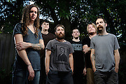 Portraits of the Christian metalcore band Underoath, photographed on The Cool Tour in St. Louis on July 25, 2010.