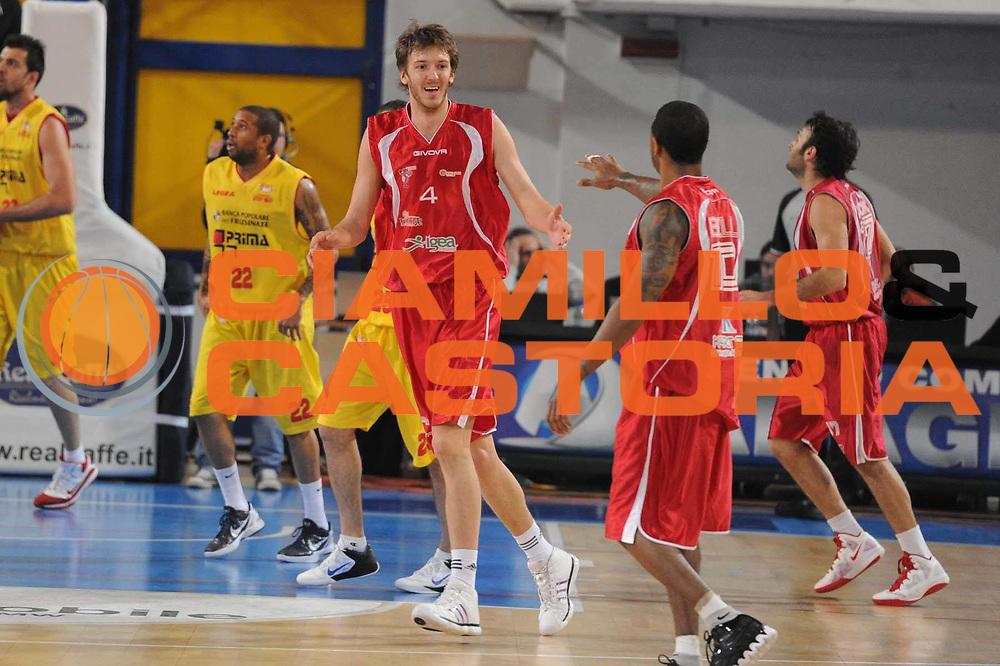 DESCRIZIONE : Frosinone Lega Basket A2 2011-12  Prima Veroli ASS. Pall. S.Antimo<br /> GIOCATORE : Bozovic Milivoje <br /> CATEGORIA : esultanza<br /> SQUADRA : ASS.Pall.S.Antimo<br /> EVENTO : Campionato Lega A2 2011-2012 <br /> GARA : Prima Veroli ASS. Pall. S.Antimo <br /> DATA : 13/01/2012<br /> SPORT : Pallacanestro  <br /> AUTORE : Agenzia Ciamillo-Castoria/ GiulioCiamillo<br /> Galleria : Lega Basket A2 2011-2012  <br /> Fotonotizia : Frosinone Lega Basket A2 2011-12 Prima Veroli ASS. Pall. S.Antimo<br /> Predefinita :