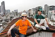 """""""Laid Back Swing"""" fashion label designers Sawaguchi Tetuya and Taku Kosuge"""