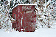 63821-22413 Outhouse garden shed in winter, Marion Co., IL