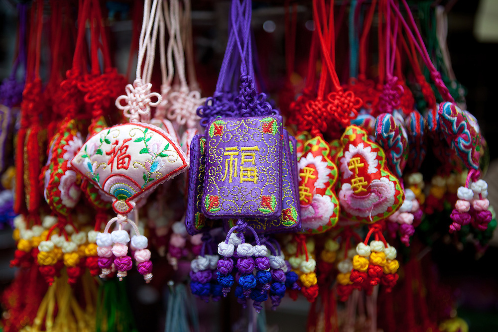 Goods for tourist at a traditional market place in the center of Beijing. Beijing is the capital of the People's Republic of China and one of the most populous cities in the world with a population of 19,612,368 as of 2010.
