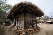Korean Folk Village. Traditional hanok houses.