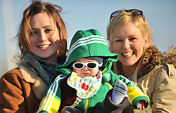 Whatever about the result !!! Young Rian Staunton with mum Sarah Ryan (Right) and Mary Ann Breen was pictured enjoying the junior Cup match at Castlebar RFC on sunday last...Pic Conor McKeown