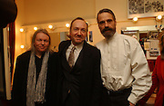 Christopher Hampton, Kevin Spacey and Jeremy Irons, Opening night of Embers, Duke of York's theatre. St. Martin's Lane. London. 1 March 2006. ONE TIME USE ONLY - DO NOT ARCHIVE  © Copyright Photograph by Dafydd Jones 66 Stockwell Park Rd. London SW9 0DA Tel 020 7733 0108 www.dafjones.com