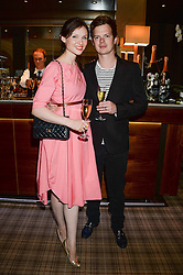 SOPHIE ELLIS-BEXTOR and RICHARD JONES at the Blue Monday Cheese Launch presented by Alex James and held at The Cadogan Hotel, Sloane street, London on 11th June 2013.