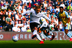 Martyn Waghorn of Derby County shoots art goal to give his side the lead - Mandatory by-line: Ryan Crockett/JMP - 30/03/2019 - FOOTBALL - Pride Park Stadium - Derby, England - Derby County v Rotherham United - Sky Bet Championship