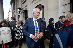 © Licensed to London News Pictures. 16/05/2012. London, UK. BBC presenter and journalist Jon Snow leaving St Martin in the Fields church, London following a memorial service held for American Sunday Times journalist Marie Colvin, who died covering the siege of Homs in Syria.  Photo credit : Ben Cawthra/LNP