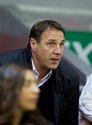 LIVERPOOL, ENGLAND - Wednesday, September 23, 2015: Former Cardiff City manager Malky Mackay in the Director's Box before the Football League Cup 3rd Round match against Carlisle United at Anfield. (Pic by David Rawcliffe/Propaganda)