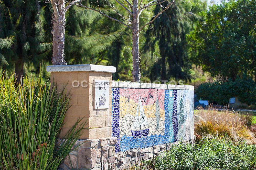 Oso Creek Trail Mosaic Tile Wall Mission Viejo