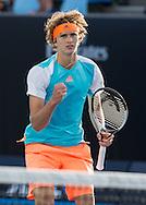 ALEXANDER ZVEREV (GER) macht die Faust und jubelt,Jubel,Emotion<br /> <br /> Australian Open 2017 -  Melbourne  Park - Melbourne - Victoria - Australia  - 19/01/2017.