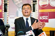 Rome may 9th 2016, in the picture<br /> candidate for mayor of the capital, Mr. Stefano Fassina, attends to a press conference after the exclusion of his candidacy for alleged irregularities