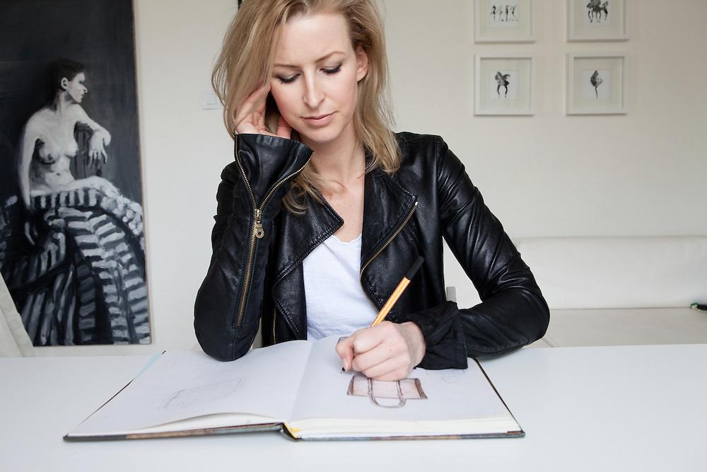 Warsaw, Poland, March 24, 2013. Maria Nowińska, Polish enterpreneur, 33 years old, successful designer of leather bags.