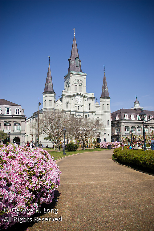 St. Louis Cathedral in the French Quarter of New Orleans, Louisiana