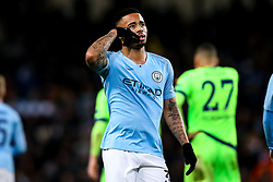 Gabriel Jesus of Manchester City celebrates scoring a goal to make it 7-0 - Mandatory by-line: Robbie Stephenson/JMP - 12/03/2019 - FOOTBALL - Etihad Stadium - Manchester, England - Manchester City v Schalke - UEFA Champions League, Round of 16, 2nd leg