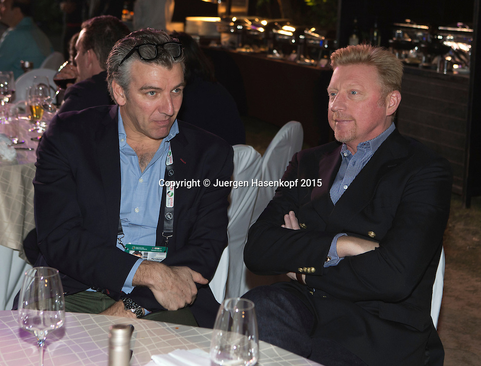 Players Party, Boris Becker und Mel Coleman<br /> <br /> Tennis - Dubai Duty Free Tennis Championships - ATP -   - Dubai -  - United Arab Emirates  - 24 February 2015. <br /> &copy; Juergen Hasenkopf