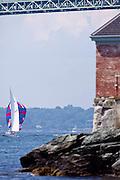 Alana, 6 Meter Class, sailing in the Robert H. Tiedemann Classic Yachting Weekend race 1.