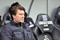 Swansea City Manager, Michael Laudrup - Photo mandatory by-line: Alex James/JMP - Tel: Mobile: 07966 386802 01/01/2014 - SPORT - FOOTBALL - Liberty Stadium - Swansea - Swansea City v Manchester City - Barclays Premier League