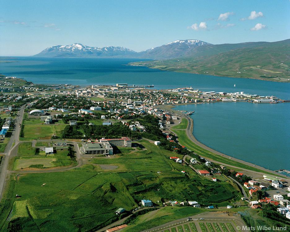 Akureyri séð til norðurs, Eyjafjörður / Akureyri viewing north, Eyjafjordur.