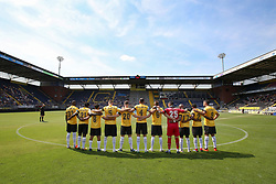 a minute of silence in memory of Daan Schrijvers during the Pre-season Friendly match between NAC Breda and EDS Team Manchester City at Rat Verlegh stadium on August 04, 2018 in Breda, The Netherlands