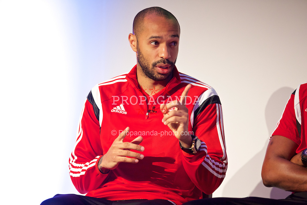 NEWPORT, WALES - Saturday, May 30, 2015: Thierry Henry during the Football Association of Wales' National Coaches Conference 2015 at the Celtic Manor Resort. (Pic by David Rawcliffe/Propaganda)