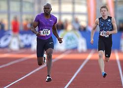31-07-2015 NED: Asics NK Atletiek, Amsterdam<br /> Nk outdoor atletiek in het Olympische stadion Amsterdam /  Churandy Martina wint de 100 meter