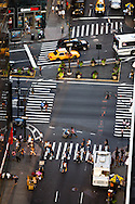 New York. elevated view on the traffic in Herald square and broadway  New York - United states  /  Herald square et broadway vue d'en haut