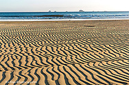 Sand patterns on the beach at Cape Blanco State Park, Oregon, USA